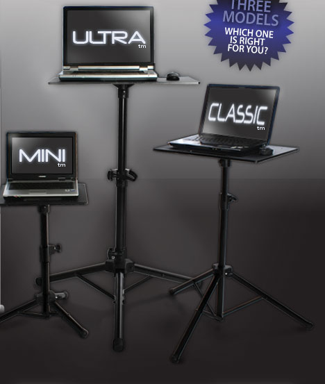 Rugged Portable Laptop Tripod Computer Stands